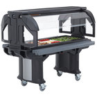 Cambro VBRLHD5110 Black 5' Versa Food / Salad Bar with Heavy Duty Casters - Low Height