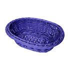 GET WB-1503-BL 9 inch x 6 3/4 inch x 2 1/2 inch Designer Polyweave Blue Oval Basket - 12 / Case