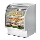True TCGG-36-S 36 inch Stainless Steel Curved Glass Refrigerated Deli Case - 17 Cu. Ft.