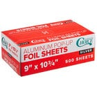 Choice 9 inch x 10 3/4 inch Food Service Interfolded Pop-Up Foil Sheets