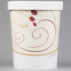 Solo KH32A-J8000 Symphony Print 32 oz. Double-Wall Poly Paper Soup / Hot Food Cup with Vented Paper Lid - 250/Case