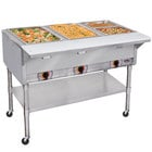 APW Wyott PSST4S Portable Steam Table - Four Pan - Sealed Well