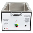 APW Wyott CWM-2A Full Size 22 Qt. Insulated Countertop Food Cooker / Warmer with Drain - 120V, 1500W