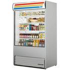 True TAC-48-LD Stainless Steel Vertical Air Curtain Refrigerator - 34 Cu. Ft.