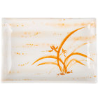 Thunder Group 2408 Gold Orchid 12 oz. Rectangular Melamine Wave Plate - 12/Pack