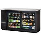 "True TBB-24-60G-SD-LD 61"" Sliding Glass Door Back Bar Refrigerator with LED Lighting - 24"" Deep"