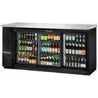 "True TBB-24-72G-SD-LD 73"" Sliding Glass Door Back Bar Refrigerator with LED Lighting - 24"" Depth"