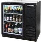 Beverage Air BB36GF-1-B-LED 36 inch Food Rated Glass Door Back Bar Refrigerator - Black