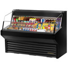 True THAC-60 60 inch Black Refrigerated Horizontal Air Curtain Merchandiser - 14.8 Cu. Ft.