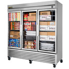 True T-72FG-LD 78 inch Glass Door Reach In Freezer with LED Lighting