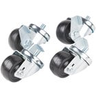 Traulsen CK24 3 1/2 inch Swivel Casters for 27 inch, 32 inch and 48 inch U-Series Refrigerators and Freezers - 4/Set