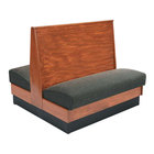 American Tables & Seating AD48-WBB-SS Bead Board Back Standard Seat Double Wood Booth - 48