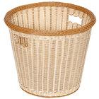 GET WB-1523-TT Designer Polyweave Plastic Round Basket 17 inch x 14 1/2 inch - 6/Pack