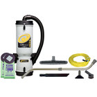 ProTeam 107141 10 Qt. LineVacer Backpack Vacuum Cleaner with HEPA filter and 107099 Xover Performance Floor Tool Kit C - 120V