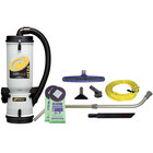 ProTeam 107142 10 Qt. LineVacer Backpack Vacuum Cleaner with HEPA filter and 107100 Xover Floor Tool Kit D - 120V