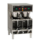 Curtis GEM-12D-10 Gemini Stainless Steel Twin Digital Satellite Coffee Brewer With Servers - 220V, 1 Phase