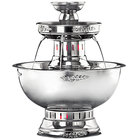 Apex 4003-SS Princess 5 Gallon SS Beverage Fountain with Silver Bow Tie Trim & Floral Cup