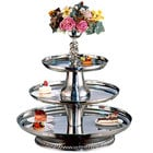 Apex VIP30-2418-S VIP III Series Three Tier Food Tray with Silver Column - 30