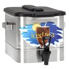 Curtis TCO308A000 3 Gallon Stainless Steel Oval Iced Tea Dispenser with Plastic Lid
