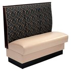 American Tables & Seating AS-483-D Single Deuce 2 Channel Back Upholstered Booth - 48 inch High