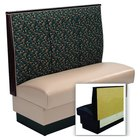 American Tables & Seating AS-423-Wall 3 Channel Back Upholstered Wall Bench - 42 inch High