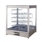 Doyon DRPR4S 22 3/8 inch Countertop Pizza Merchandiser / Warmer with Four Tiered 20 inch Rotating Circle Rack - 120V