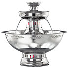 Apex 4004-SS Princess 7 Gallon SS Beverage Fountain with Silver Bow Tie Trim and Floral Cup