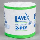 Lavex Janitorial Individually-Wrapped 2-Ply 500 Sheet Toilet Paper Roll - 24/Pack
