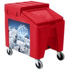 Red Ice Caddy II 140 lb. Mobile Ice Bin / Beverage Merchandiser