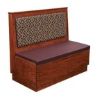 American Tables & Seating AS48-W-PS Plain Back Platform Seat Single Wood Booth - 48 inch High