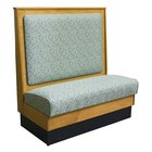 American Tables & Seating AS42-W-SS-Wall Plain Back Standard Seat Wood Wall Bench - 42 inch High