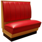 American Tables & Seating AS48-66W-D Single Deuce Alex Style Wood Booth - 48 inch High