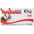 Choice Disposable Poly Gloves - Large for Food Service