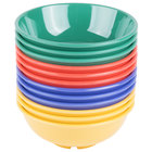 GET B-24-MIX Diamond Mardi Gras 24 oz. Melamine Bowl, Assorted Colors   - 12/Case