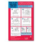 San Jamar RCUWLCT Rapi-Kool 17 inch x 11 inch Instructional Wall Chart