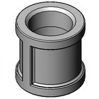 T&S 004710-25 Chrome Plated Coupling with 3/4 inch NPT Female Connections