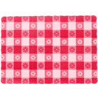 Red Gingham Rectangle