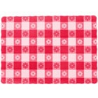 Choice 10 inch x 14 inch Red Gingham Colored Paper Placemat   - 1000/Case