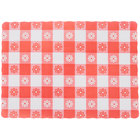 10 inch x 14 inch Red Gingham Colored Paper Placemat   - 1000/Case