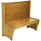 American Tables & Seating AWS-72 Single Wood Booth - 42