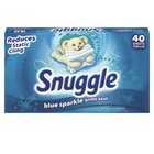40 Count Diversey CB451088 Snuggle Blue Sparkle Fabric Softener Sheets - 12/Case