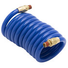 T&S 013539-45 9' Blue Coiled Hose for Pet Grooming Faucet