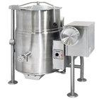 Cleveland KGL-25-T Natural Gas 25 Gallon Tilting 2/3 Steam Jacketed Kettle - 90,000 BTU