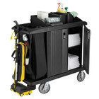 Rubbermaid FG619200BLA Classic Compact Housekeeping Cart with Doors