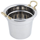 Bon Chef 5411HR 7 Qt. Stainless Steel Laurel Design Soup Tureen with Round Brass Handles