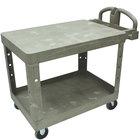Rubbermaid FG452500BEIG Beige Medium Two Flat Shelf Utility Cart
