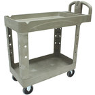 Rubbermaid FG450088BEIG Beige Small Two Lipped Shelf Utility Cart