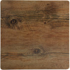 Elite Global Solutions M10 Fo Bwa Square Faux Driftwood Melamine Serving Board - 10 inch x 10 inch