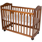 L.A. Baby CW-35-P 37 inch x 19 1/2 inch x 26 inch Pecan Colored Original Bedside Manor Cradle