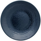 Elite Global Solutions D638RR Pebble Creek Lapis-Colored 6 3/8 inch Round Plate - 6/Case